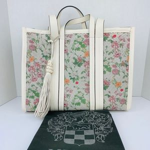 VINCE CAMUTO Indra BONE MULTI FLORAL leather tote